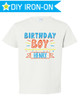 Personalized Boys Birthday Iron On Transfer