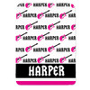Personalized Name Game Guitar Blanket Pink