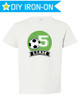 Personalized Birthday Iron On Transfer: Soccer