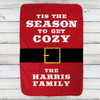 Personalized Tis The Season Christmas Throw Blanket