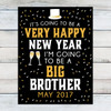 Happy New Year Big Brother Announcement Sign