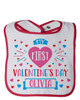 Personalized My First Valentine's Day Bib Pink