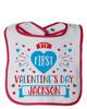Personalized My First Valentine's Day Bib Blue