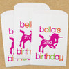 Personalized Paper Favor Bags: Unicorn's Birthday