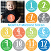 Baby Boy Monthly Milestone Baby Stickers: Beachy Blues