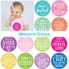 My First Year Milestone Baby Stickers: Pastel Pinks