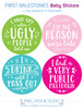 My First OMG Moments Baby Stickers: Pop Pastels