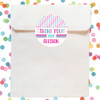Personalized Party Favor Stickers: Pastel Multi Dots