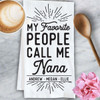 Personalized Favorite People Kitchen Towel