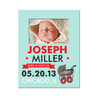 Personalized Birth Announcement Picture Frame Rockin' & Rollin' Blue