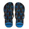 Personalized Boppin' 2 the Beatz Flip Flops Blue