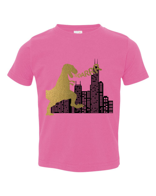 Chicago baby gifts chicago baby shirts chicago flag baby tee personalized dino city baby shirt negle Images