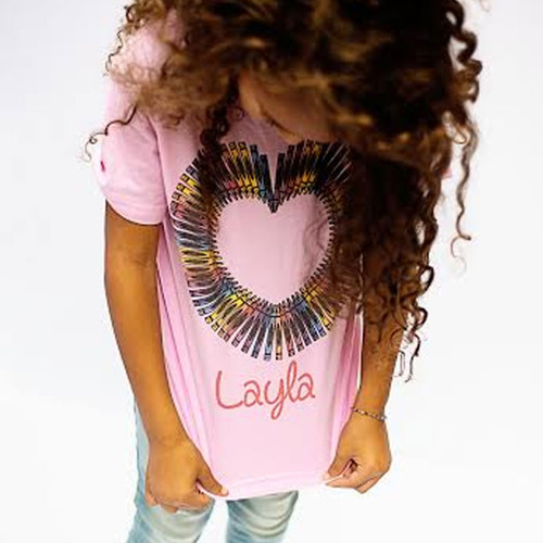 Personalized Color Your Love Heart T-Shirt