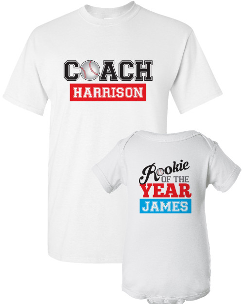 Coach Dad Shirt Set: Baseball