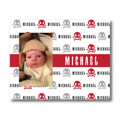 Personalized Name Game Picture Frame: Rebel Rocker Red