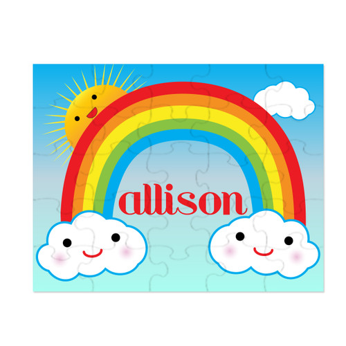 Personalized Happy Little Rainbow Puzzle