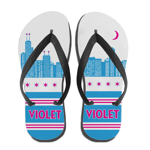 Personalized Chicago Flip Flops