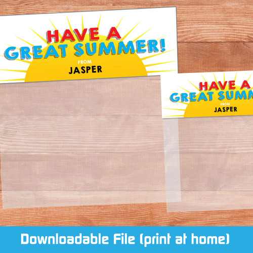 Printable Have A Great Summer Bag Toppers (Digital File)