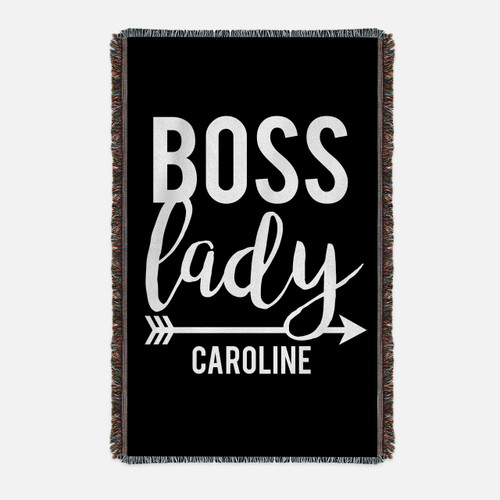 Personalized Boss Lady Throw Blanket