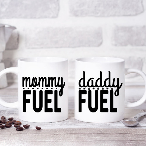 Mommy Fuel & Daddy Fuel Mugs