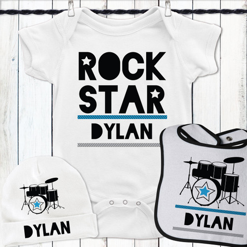 Personalized Drum Superstar Gift Set Blue