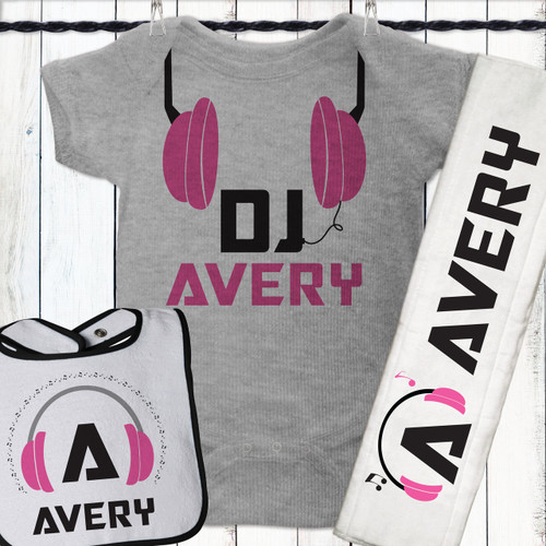 Personalized Baby Headphone DJ Gift Set