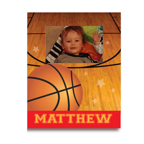 Personalized Double Dribble Basketball Picture Frame