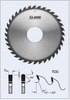 """S22302-318 12"""" x 3-1/8"""" bore- 36 Tooth Glue Line Rip Saw Blade by FS Tool"""