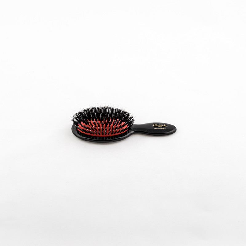 Boar / Nylon Bristle Mini Hairbrush (SP24M_NER) by Janeke - Made in Italy since 1830