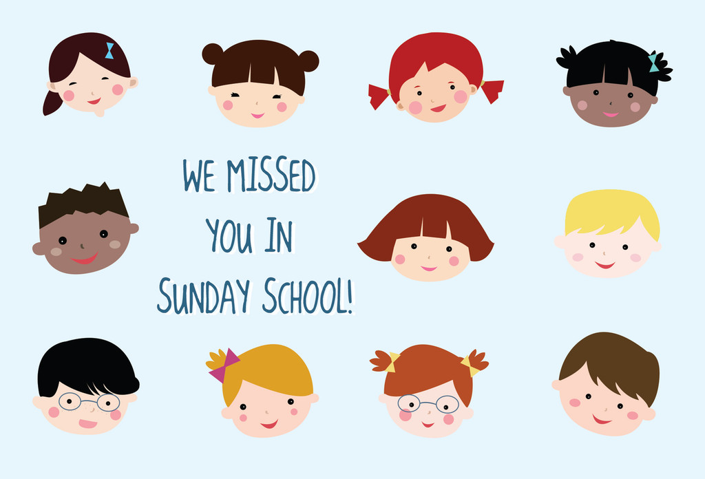 We Missed You in Sunday School Postcards (B) - Pack of 25
