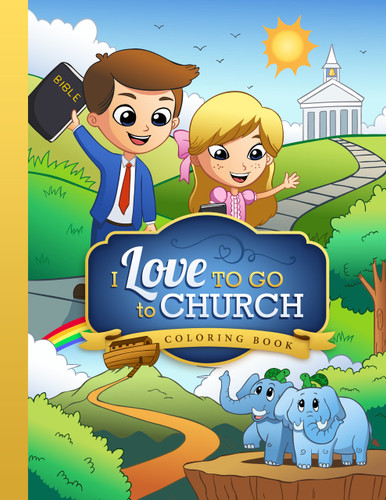 I Love to Go to Church - Coloring Book