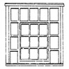 SS2130 frame with inset center 9 panes