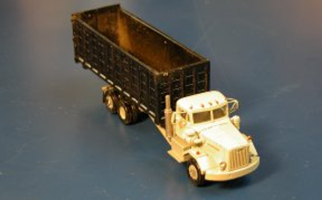 1955 Autocar Constructor Truck with Open Top Roll-Off Trash Box Kit