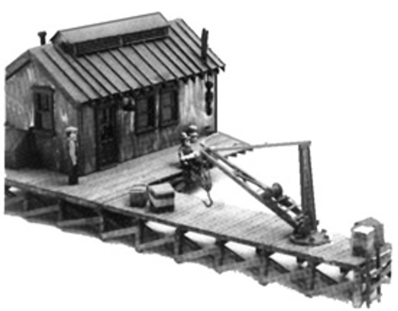 Tool House & Loading Dock w/Pillar Crane Kit