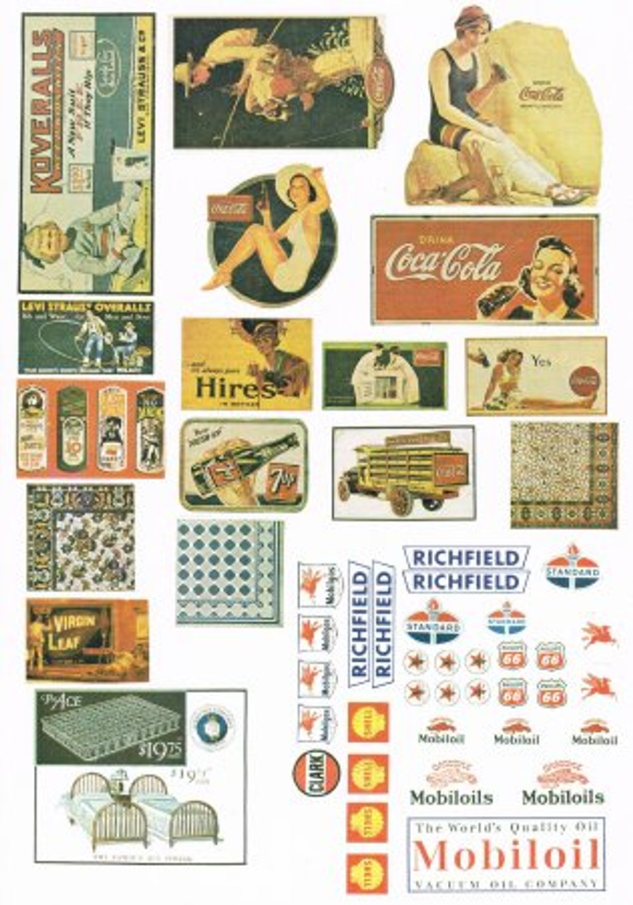 100+ Nostalgic Colored  Posters and Gas Station Signs