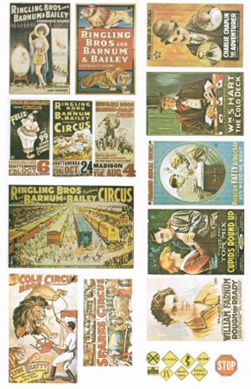 25+ 1920's & 1930's Circus & Movie Posters