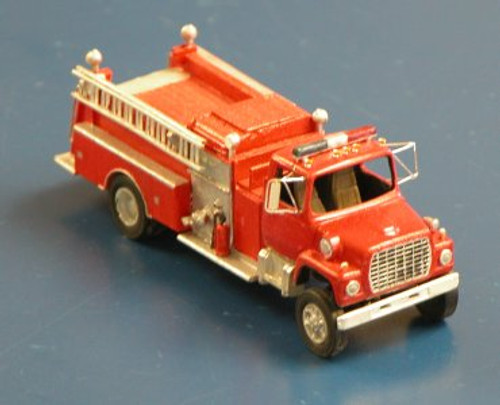 1969 Ford LN Fire Truck with Pierce Suburban Pumper Body Kit