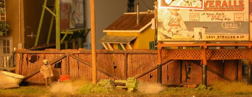 Rusty Weathered Corrugated Steel Fence with Gates Kit