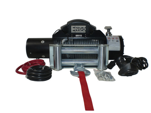 10,000 lbs. SR-Series Winch, Steel Cable with Roller Fairlead