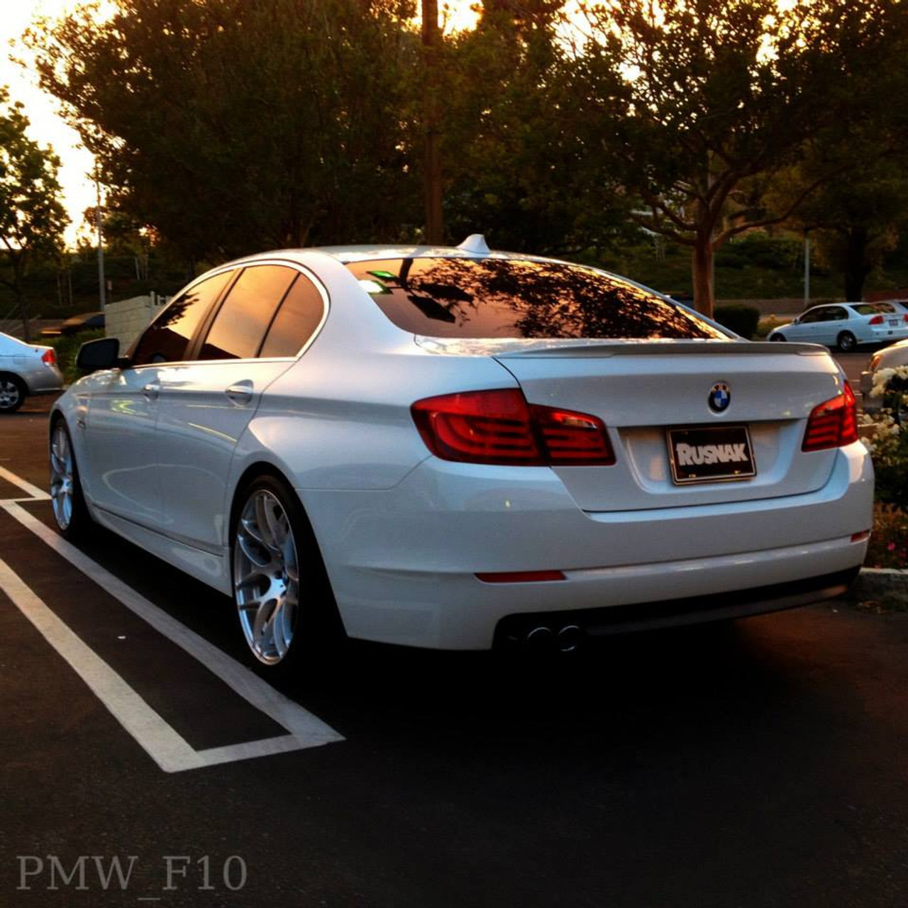 Bmw F10 Custom: BMW F10/F10 M5 Painted Performance Trunk Spoiler (ABS