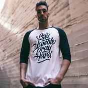 Stay Humble Pray Hard - 3/4 Baseball Tee