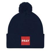 PRAY Box Beanie - Pom Pom Knit Cap