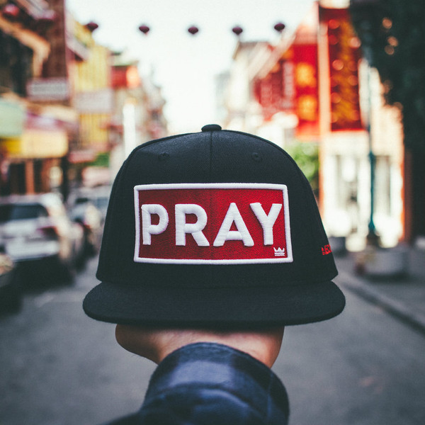 Classic PRAY - Snapback Hat - Black/Red