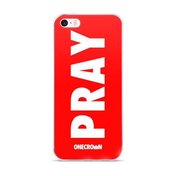 PRAY iPhone Case -  6/6s, 6/6s Plus - Red