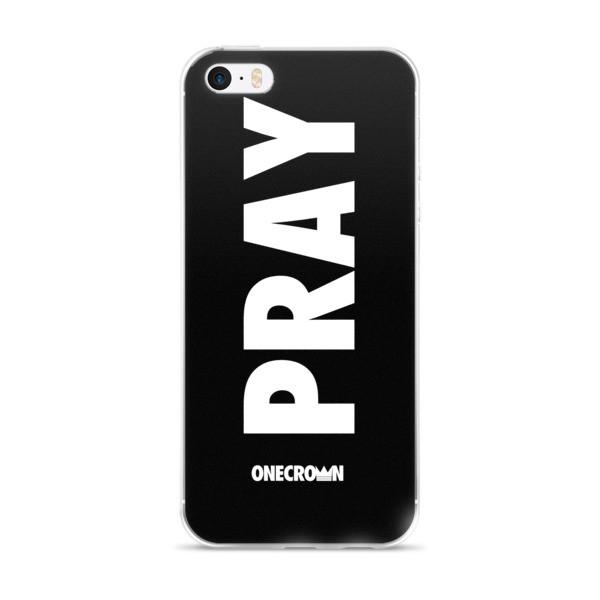 PRAY iPhone 5/5s/Se, 6/6s, 6/6s Plus Case - Black