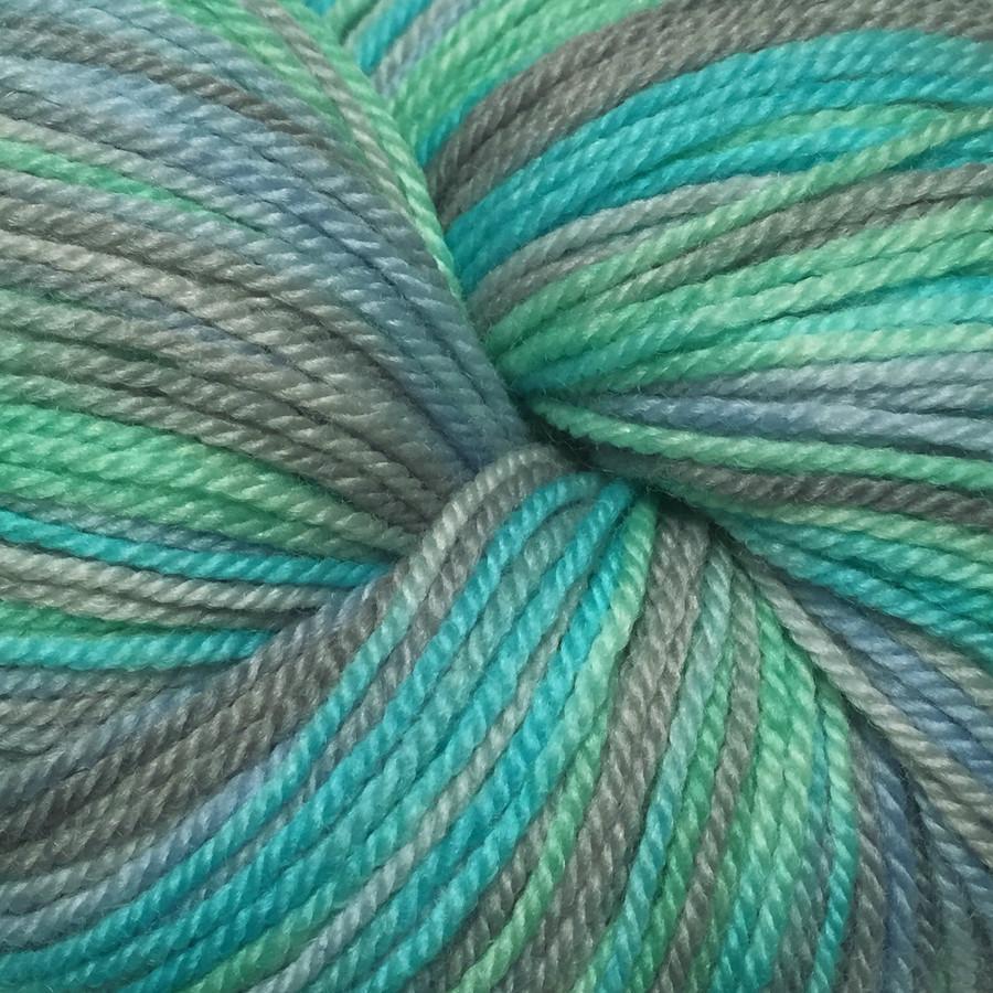 """Glacial Melt"" Hand Dyed Wanderlust Sock Yarn"