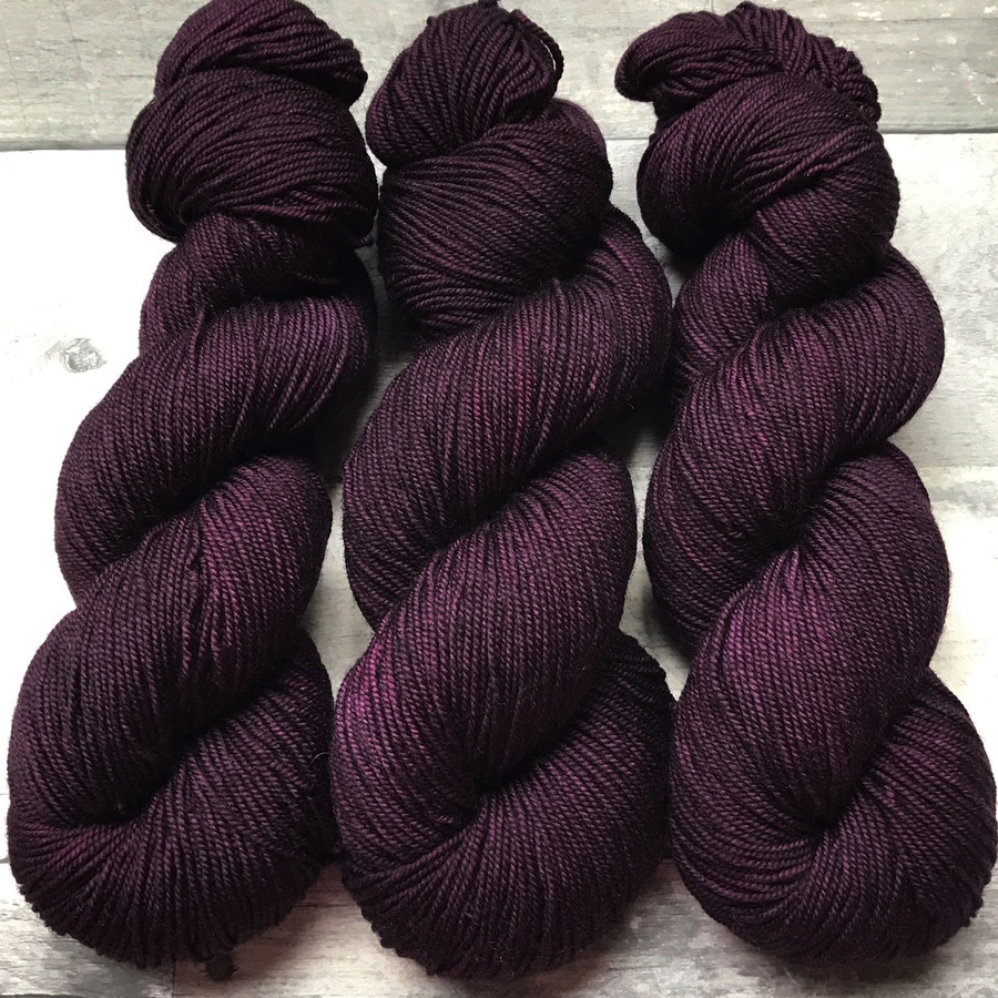 """Blackberry"" Hand Dyed Summit Sport Yarn"