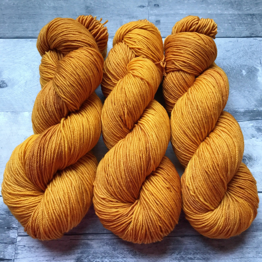 """Curry"" Hand Dyed Summit Sport Yarn"