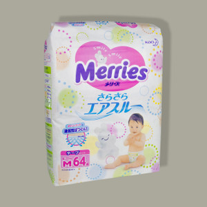 Merries Diapers M size (6-11 kg)