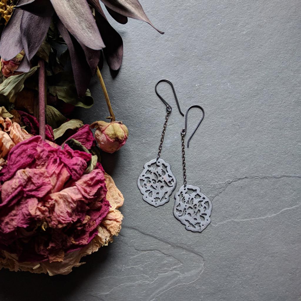 Acanthus Earrings No. 2 Patina